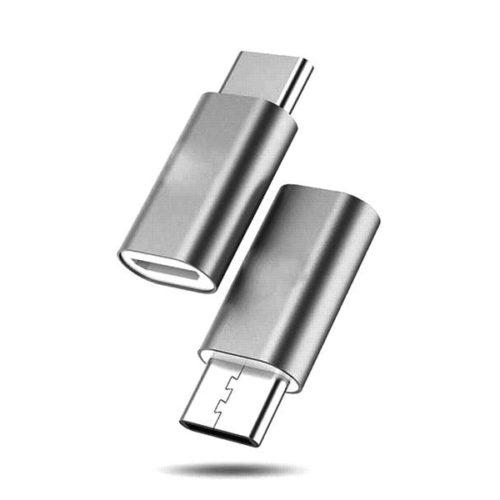 USB Type-C - USB Micro Adapter (Grey)