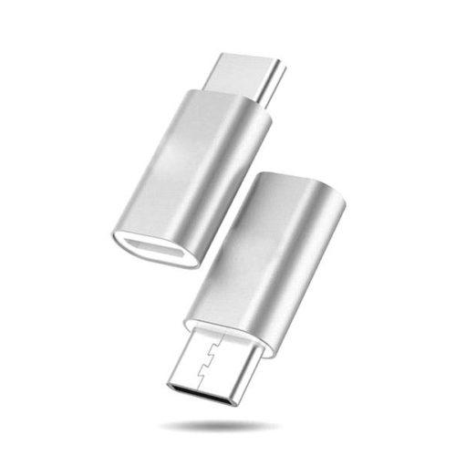 USB Type-C - USB Micro Adapter (Silver)