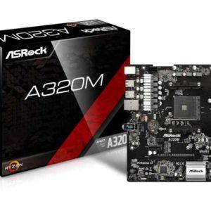 ASRock A320M AMD A320 Socket AM4 microATX motherboard 90-MXB590-A0UAYZ