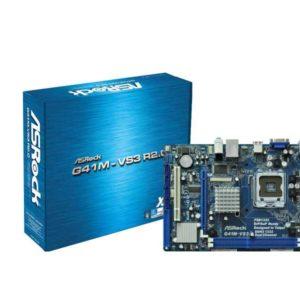 ASRock G41M-VS3 R2.0 Intel G41 LGA 775 (Socket T) microATX motherboard 90-MXGI40-A0UAYZ