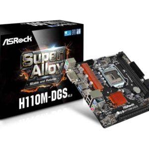 ASRock H110M-DGS R3.0 Intel H110 LGA 1151 (Socket H4) microATX motherboard 90-MXB4B0-A0UAYZ