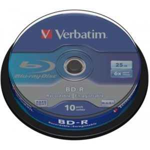 BD-R 25GB Verbatim 6x 10er Cakebox 43742