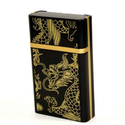 Case for 8 cigarettes with USB Lighter (Dragon)