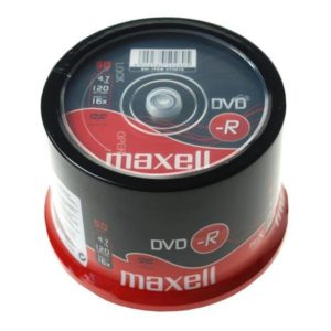 DVD-R 4.7GB Maxell 16x 50er Cakebox 275610