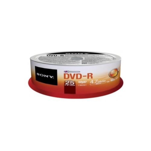 DVD-R 4.7GB Sony 16x 25er Cakebox 25DMR47SP