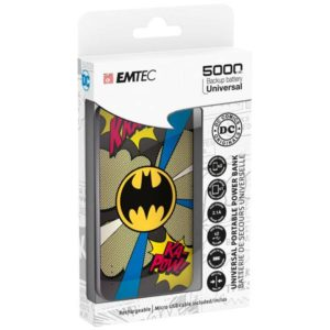 EMTEC Power Bank 5000mAh Slim U750 BATMAN