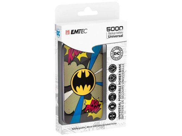 EMTEC Power Bank 5000mAh Slim U750 BATMAN