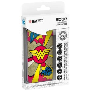 EMTEC Power Bank 5000mAh Slim U750 WONDERWOMAN