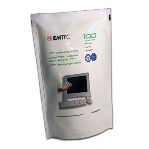 EMTEC TFT Cleaning Wipes Refill Pack (100 units)
