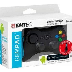EMTEC Wireless GEM Pad Gamepad & Holder Clip for Android