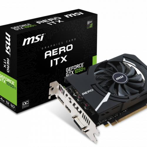 Graphiccard MSI GeForce GTX1050Ti AERO ITX 4GB OC V1 V809-2606R