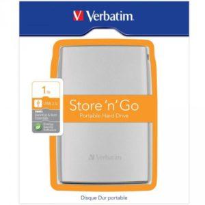HDD 2.5 USB3 1TB Verbatim Store 'n' Go Silver 53071