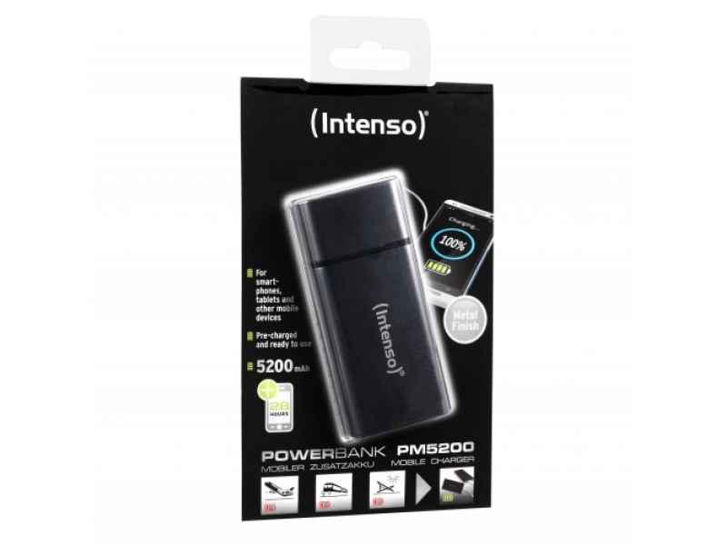 Intenso Powerbank PM5200 Rechargeable Battery 5200mAh (black)
