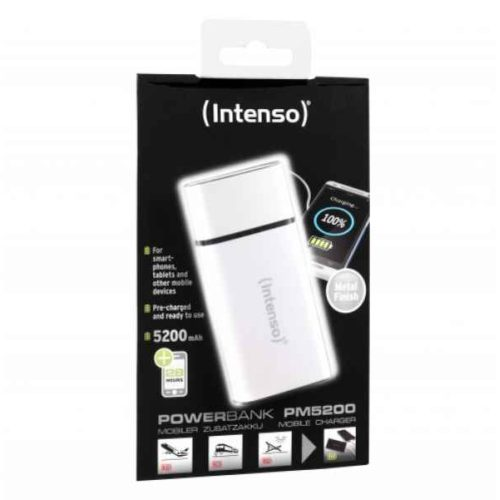 Intenso Powerbank PM5200 Rechargeable Battery 5200mAh (white)