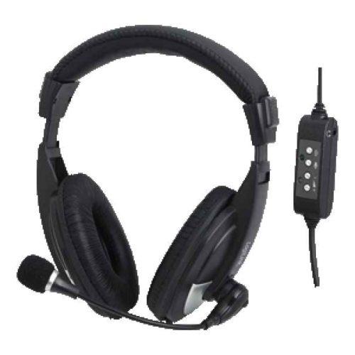 LogiLink HS0019 Binaural Head-band Black headset HS0019