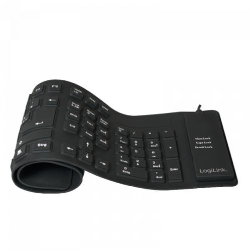 Logilink Flexible Keyboard Waterproof USB + PS