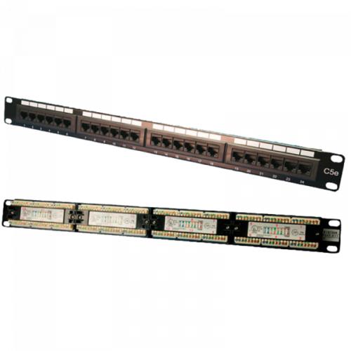 Logilink Patch Panel 19 CAT5e 24-Port unshielded, Black (NP0027)