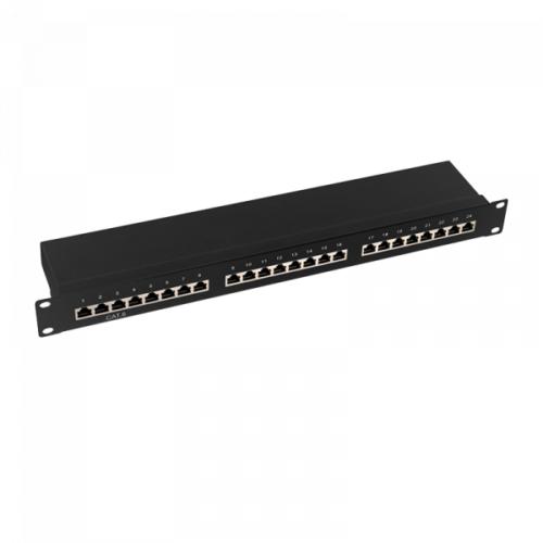 Logilink Patch Panel 19-mounting Cat.6, STP 24 ports black EconLine NP0055