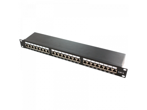Logilink Patch Panel 19-mounting Cat.6 STP 24 ports, black (NP0048)
