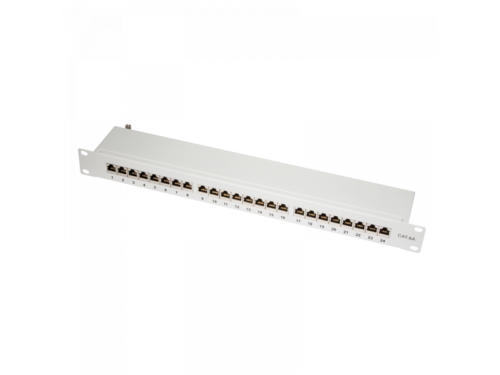 Logilink Patch Panel 19-mounting Cat.6A STP 24 ports, grey  (NP0060)