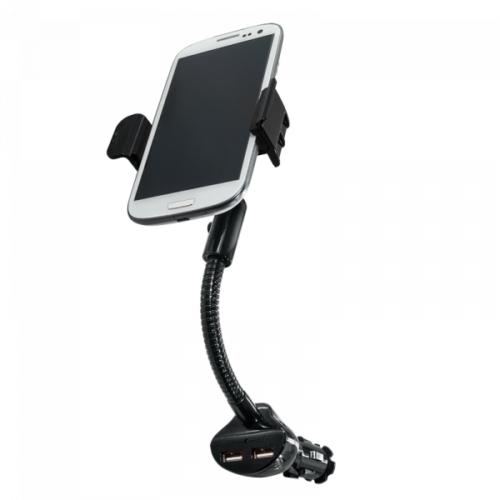 Logilink Smartphone Kfz-Halterung mit 2 USB Ladeanschlüssen, 15,5W (PA0121)