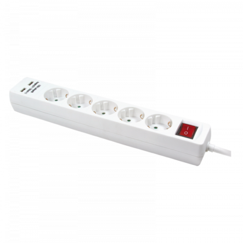 Logilink Steckdosenleiste 5-Port with 2x USB, 1,4 m (LPS203U)