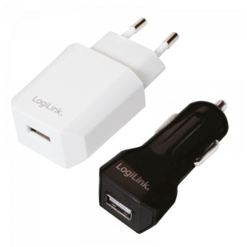 Logilink USB Travel Charger Combo Kit, USB-Port, 5W