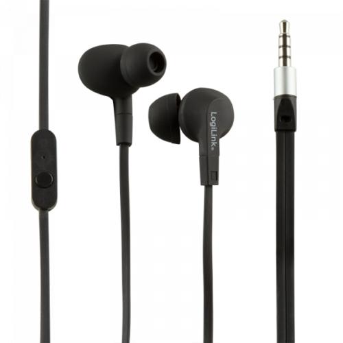 Logilink Waterproof (IPX6) Stereo In-Ear Headset, Black (HS0042)