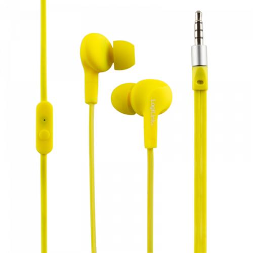 Logilink Waterproof (IPX6) Stereo In-Ear Headset, yellow (HS0043)