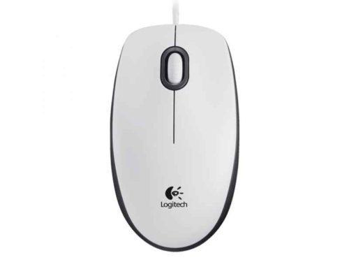 Logitech M100 USB Optical 1000DPI Ambidextrous White mice 910-005004