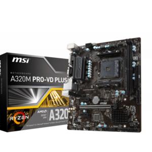 MSI A320M PRO-VD PLUS AMD A320 Socket AM4 microATX motherboard 7B38-001R