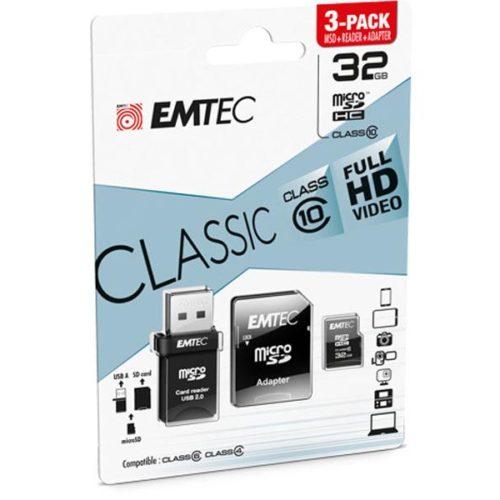 MicroSDHC 32GB EMTEC 3in1 SD