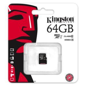 MicroSDXC 64GB Kingston UHS-I 45MB