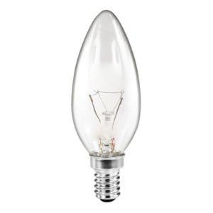 OSRAM Light Bulb KERZE 60 Watt E14 (Clear) 10 Pcs