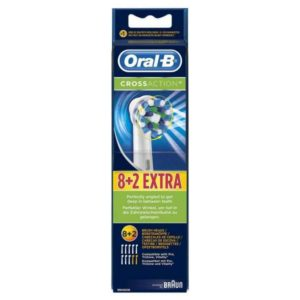 Oral-B CrossAction EB50 Replacement Brush Heads 8+2