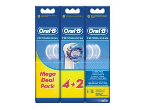 Oral-B Precision Clean Replacement Brush Heads 4+2