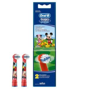 Oral-B Stages Power EB10k Replacement Toothbrush Heads Micky Mouse (2 Pieces)
