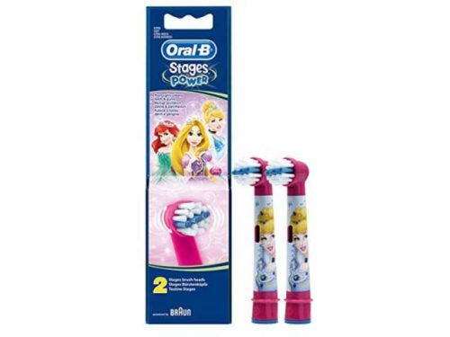 Oral-B Stages Power EB10k Replacement Toothbrush Heads Princess (2 Pieces)