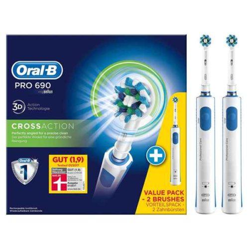Oral-B Toothbrush PRO 690 CrossAction Bonuspack