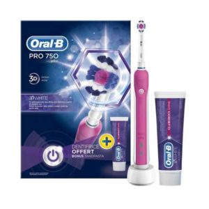 Oral-B Toothbrush PRO 750 +toothpaste 75ml pink