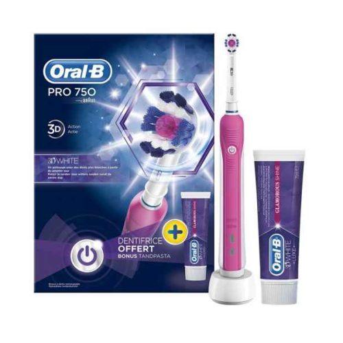 Oral-B Toothbrush PRO 750 +toothpaste 75ml pink