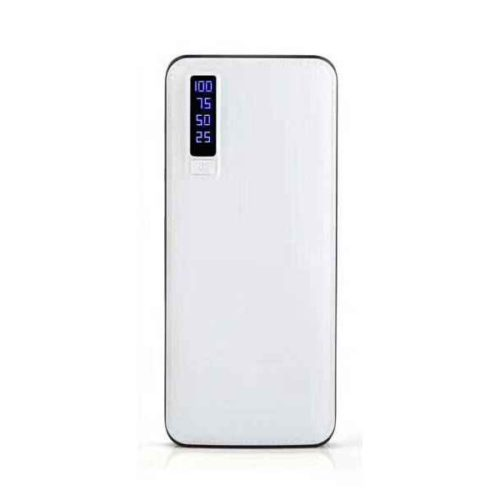 Powerbank 20000mAh LEATHER DESIGN with LED Torch and 3x USB (white)