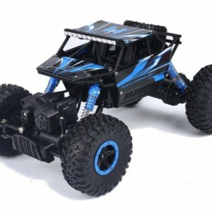 RC Monster Truck 118 - Rock Through 4WD Fox 2.4GHz (Black-Blue)