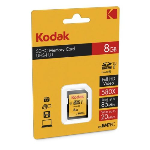 SDHC 8GB Kodak CL10 UHS-I 85MB