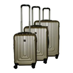 Travel Luggage Trolley Set ABS 3 pcs (Gold)