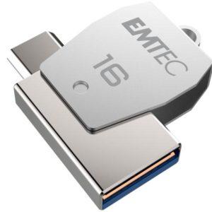 USB FlashDrive 16GB EMTEC 2in1 Dual micro-USB T250 chrom