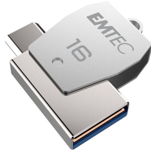USB FlashDrive 16GB EMTEC 2in1 Dual micro-USB T250 chrom