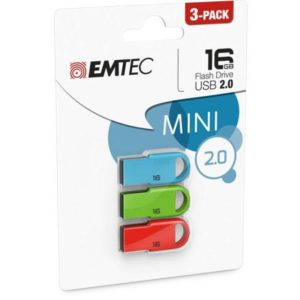 USB FlashDrive 16GB EMTEC D250 Mini (3pcs pack)