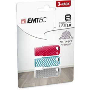 USB FlashDrive 8GB EMTEC M750 Wallpaper (3pcs pack)