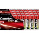 Batterie Camelion Alkaline LR6 Mignon AA (40 pcs Value Pack)